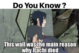 Itachi and wall
