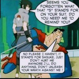 sasuke vs superman